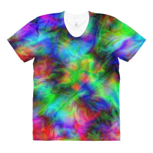 Psychedelic Abstract Art All-Over T-Shirts by Vestige Studio