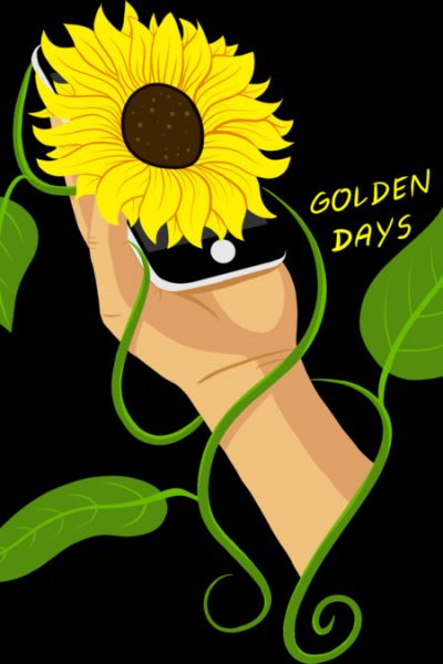 Sunflower Phone T Shirt By GoldenDays Design By Humans