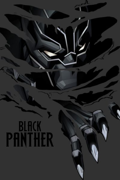 Black Panther Breaks Through T Shirt By Marvel Design By Humans
