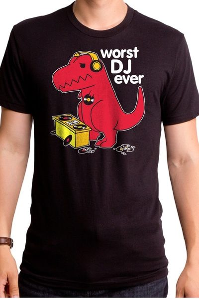 Worst DJ Ever Dino Men's T-Shirt