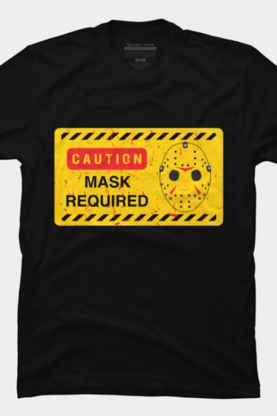 Caution Jason Land T Shirt By Oldtee Design By Humans