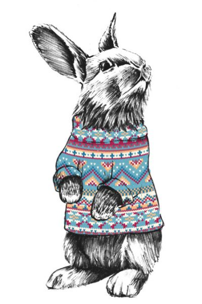 Christmas Bunny. T Shirt By Tshirtevolution Design By Humans