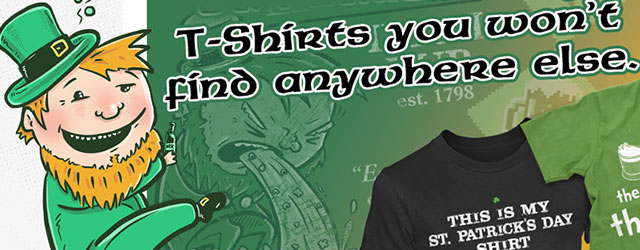 Saint Patrick's Day Giveaway with some awesome Saint Patricks Day T-shirts!