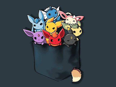 Pocket-Full-of-Monsters pocket t-shirt