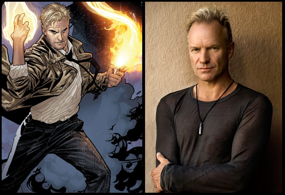 Real Life Inspirations Behind Comic Book Characters constantine sting