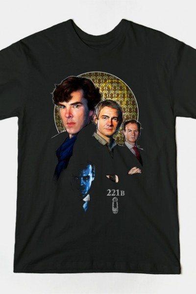 Sherlock Holmes, Watson, Mycroft and Moriarty