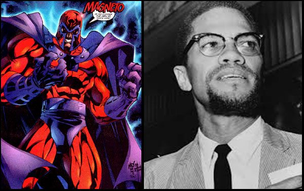 Real Life Inspirations Behind Comic Book Characters magneto malcom x