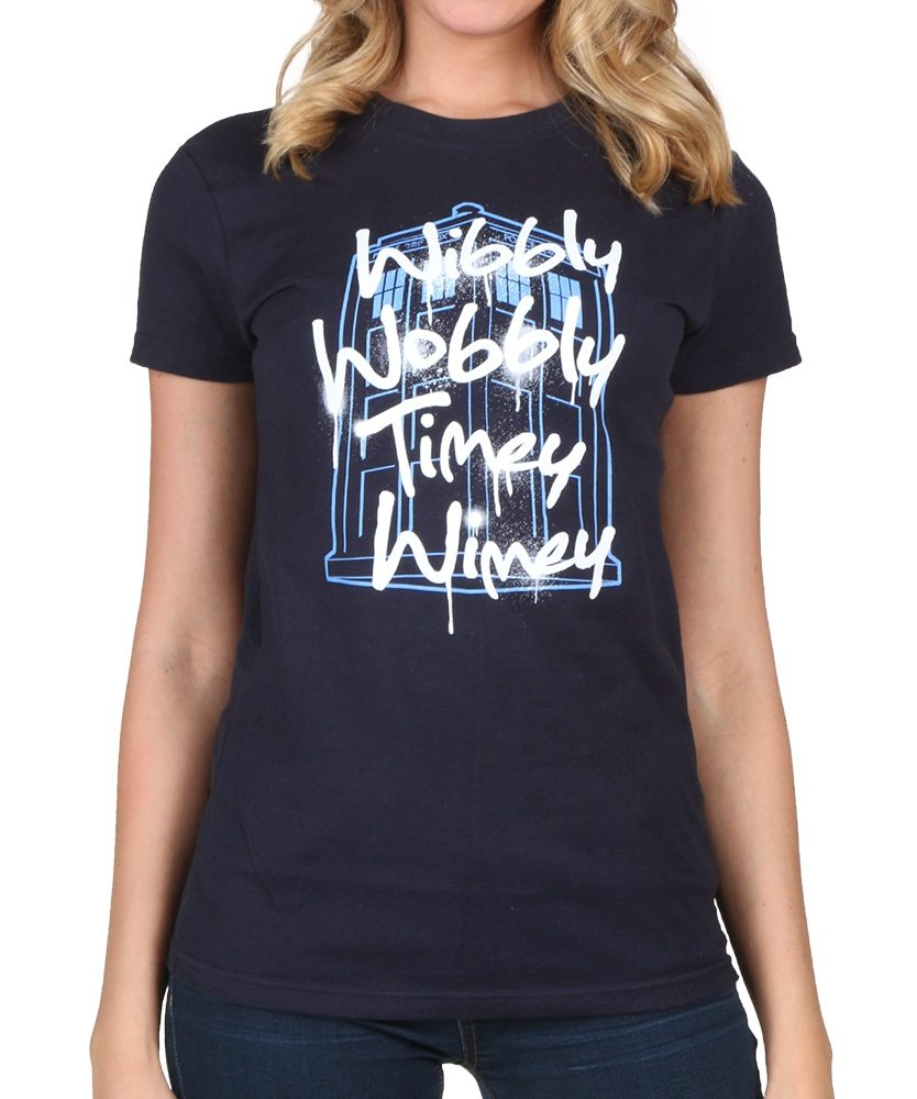 10 Things You Didn't Know about Doctor Who womens-wibbly-wobbly-timey-wimey-t-shirt