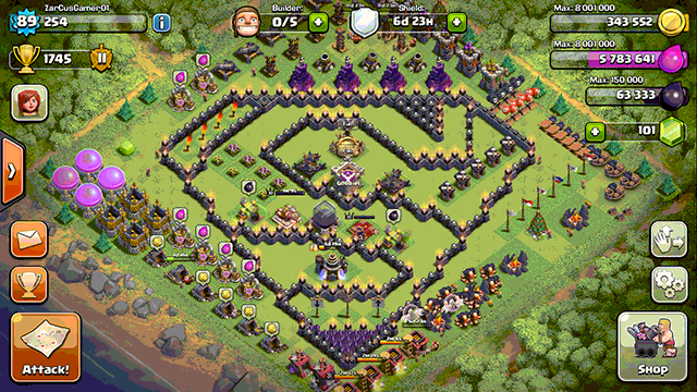 clash of clan video game