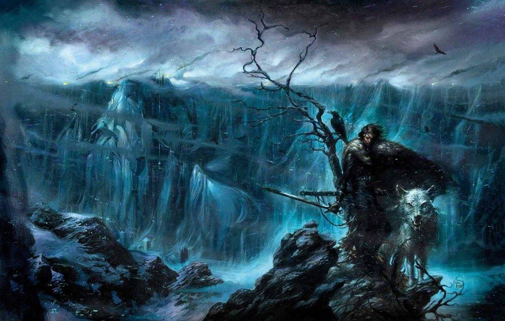 Jon-Snow-and-Ghost- Jon Snow Fan Theory