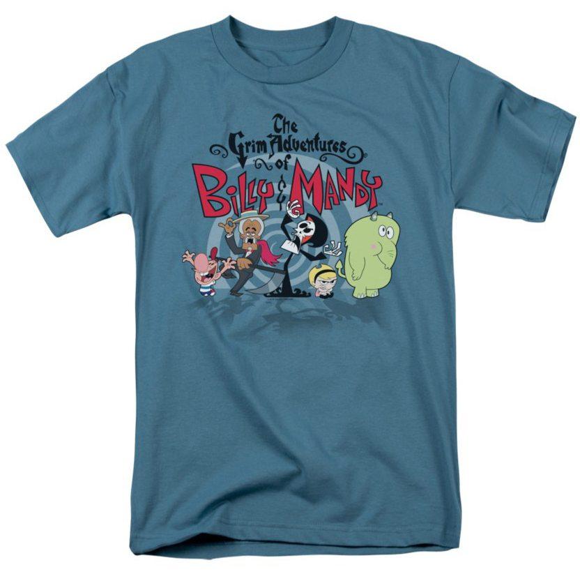 grim-adventures-of-billy-mandy-group-shot-adult-t-shirt-6c