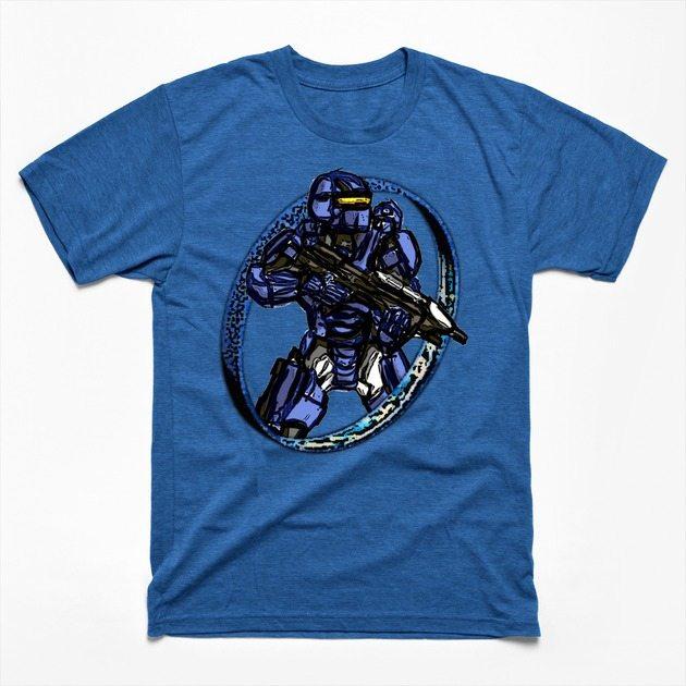 Blue Spartan Warrior