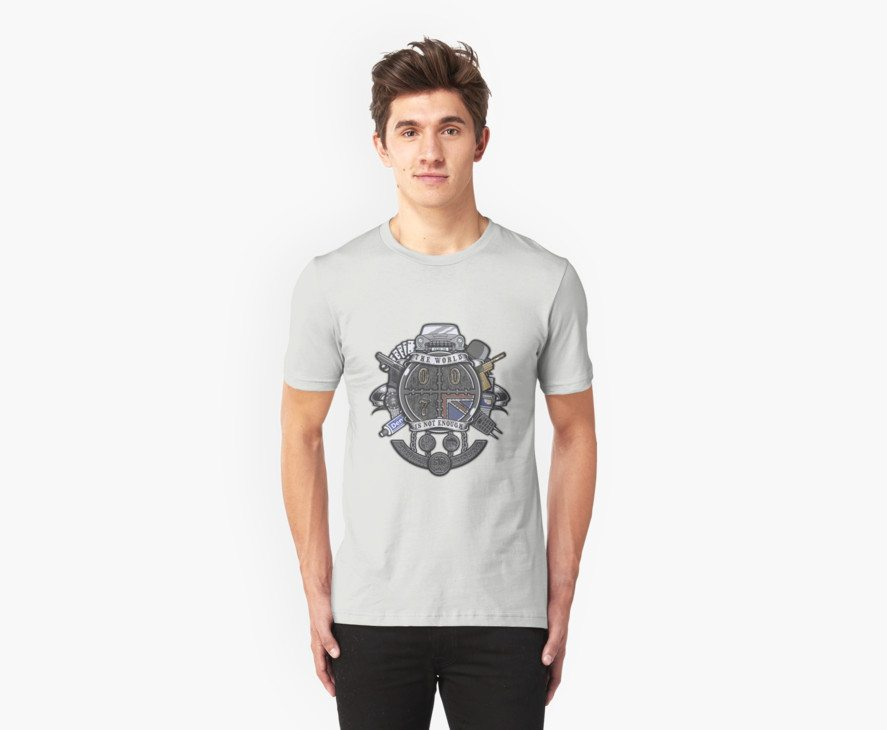 James Bond t-shirts bond crest