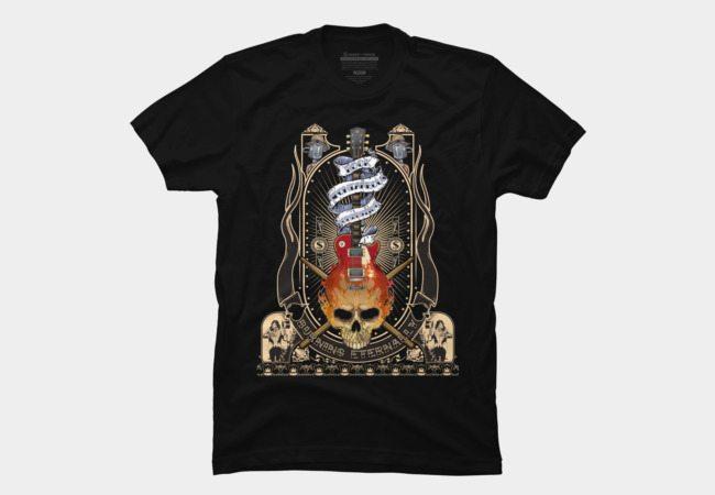 Burning Skull Guitar