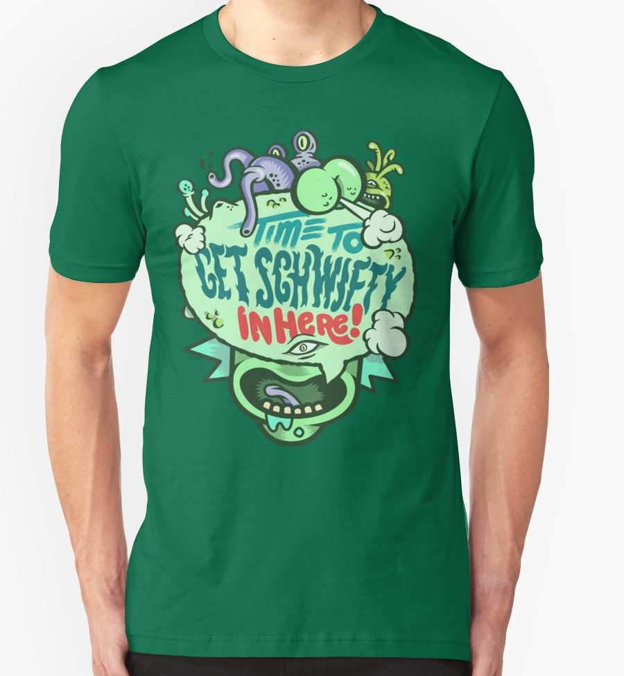 Rick and Morty t-shirts get schwifty