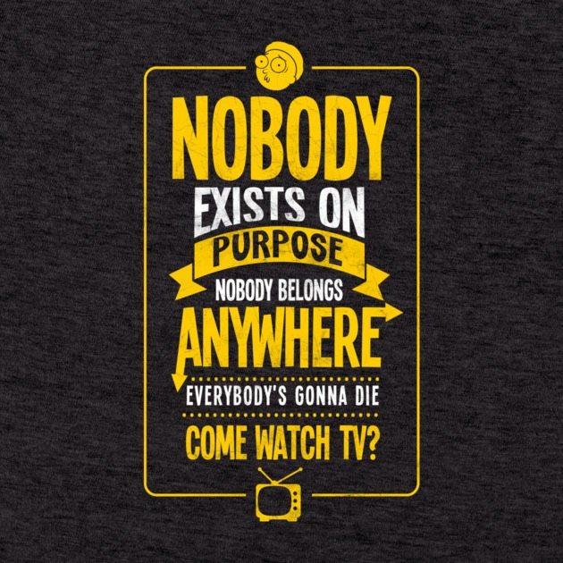 nobody exists on purpose