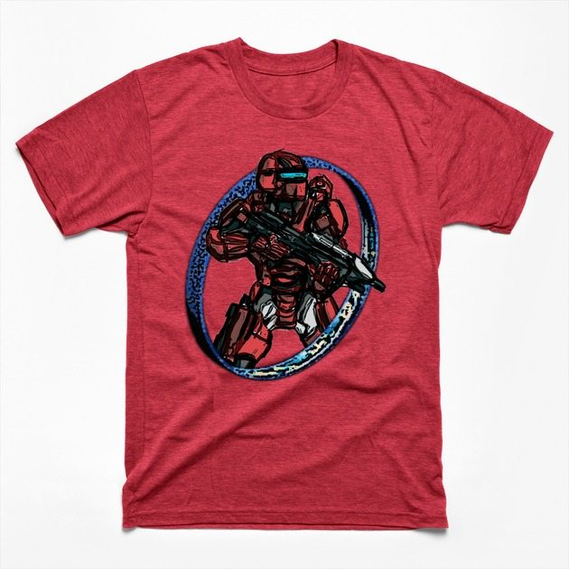 Red Spartan Warrior