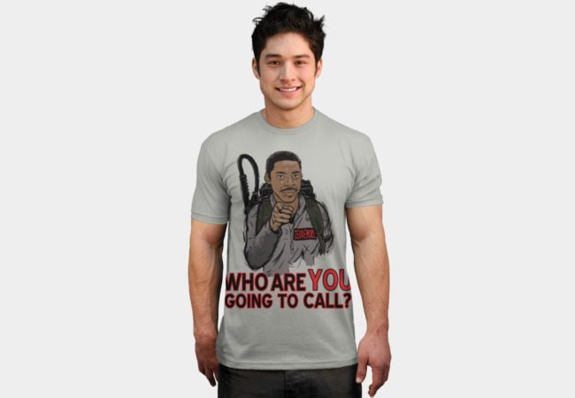 Ghostbusters t-shirts uncle zeddemore2