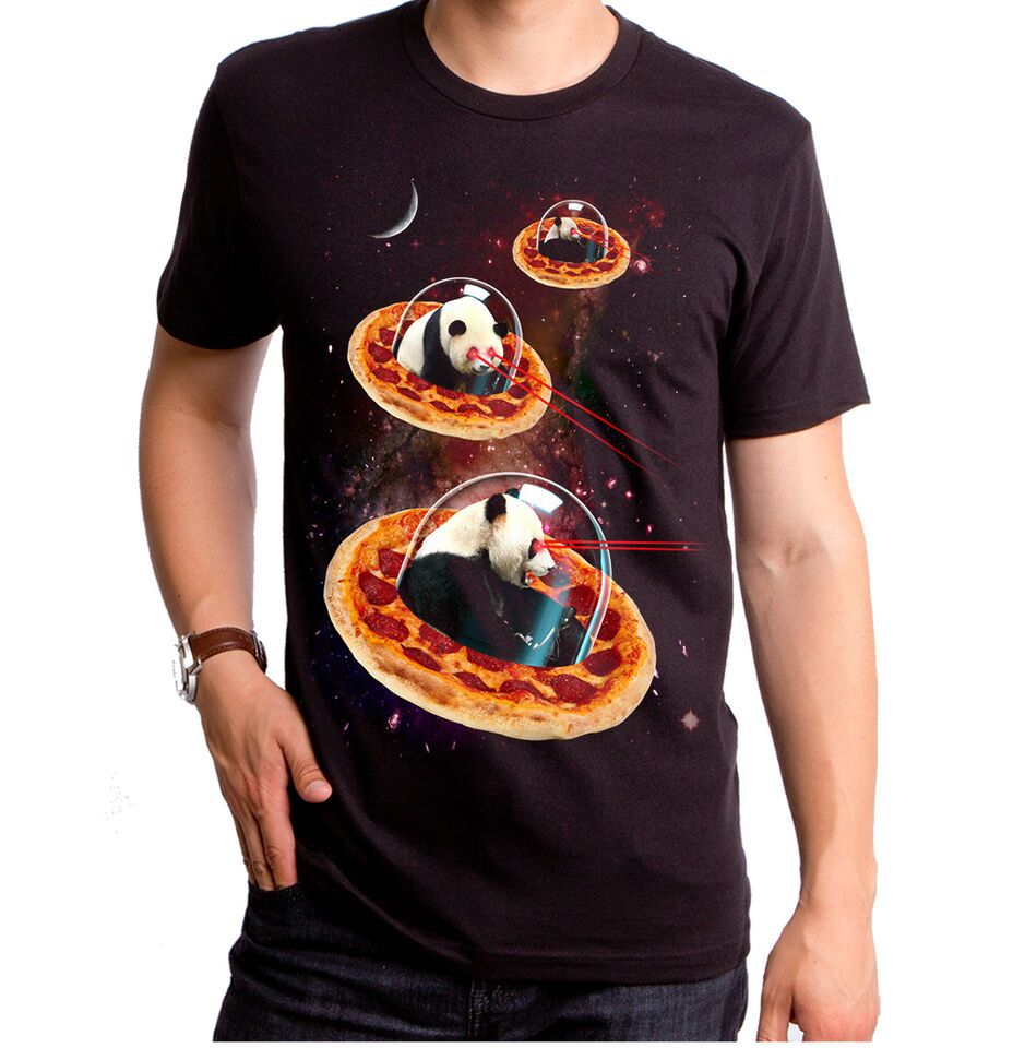 Invader Pandas On Pizza