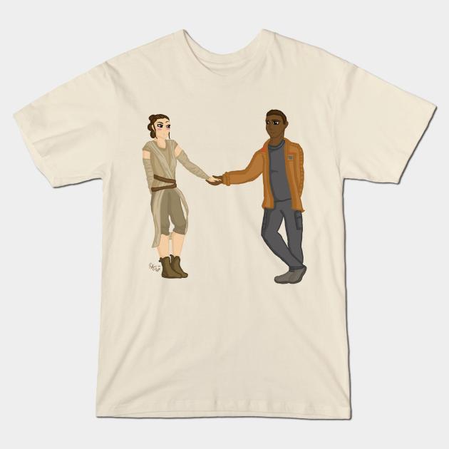 Rey and Finn Star Wars: The Force Awakens Tee