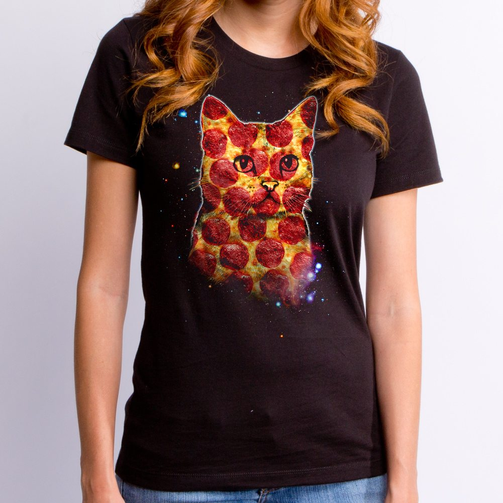 Pizza Cat in Space Women's T-shirt