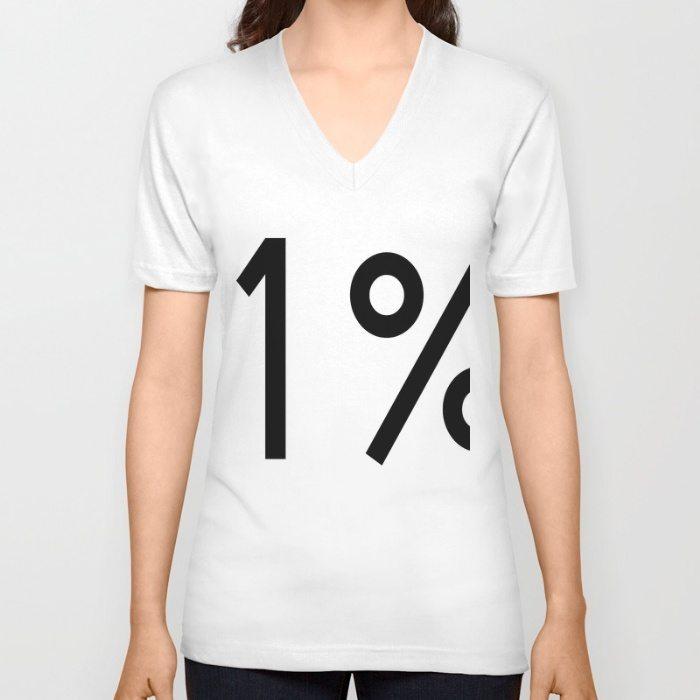 1% Unisex V-Neck by SassyEthnicBohemian