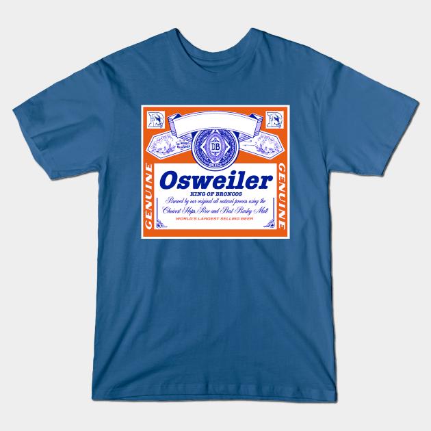 Osweiler the King of Broncos Beer Label in Orange
