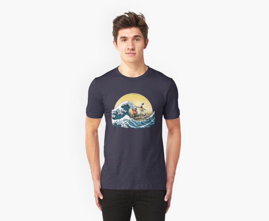 Going Merry by Hokusai