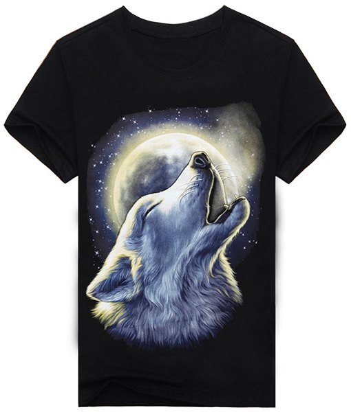 Animal Wolf and Moon