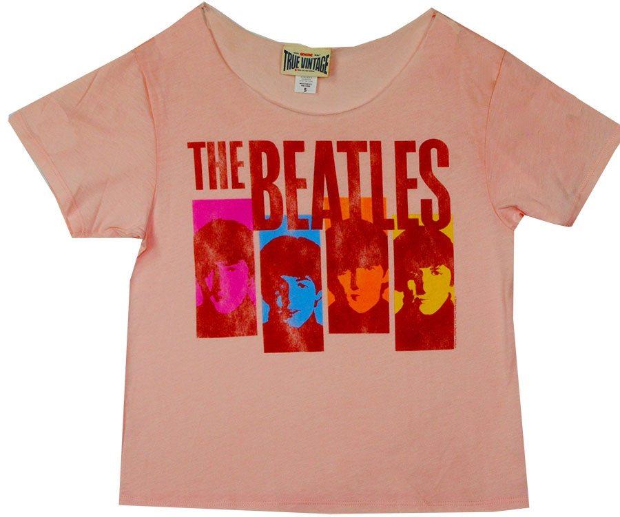 Beatles Vintage Portraits T-Shirt by Junk Food