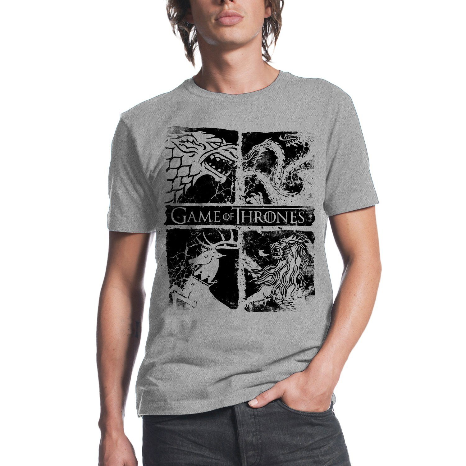 HBO'S Game of Thrones Men's Game of Thrones Four Houses T-Shirt