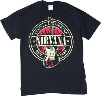 Nirvana Seattle Washington Est. 1988 T-Shirt  |Vintage Rock Shirt