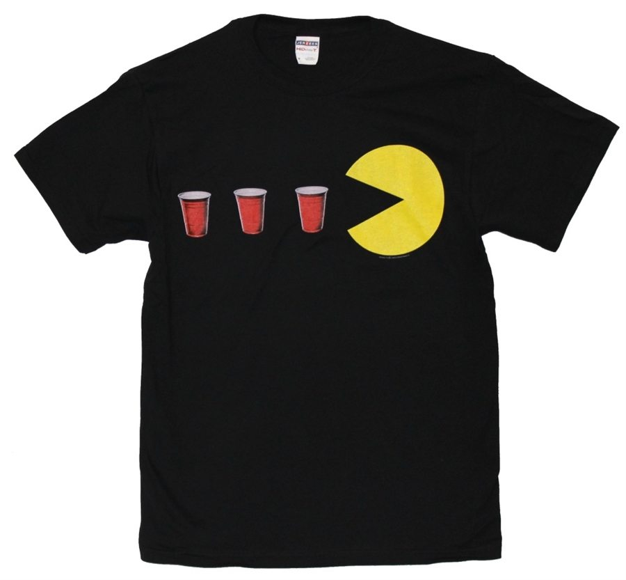 Pac-Man with Red Cups T-Shirt