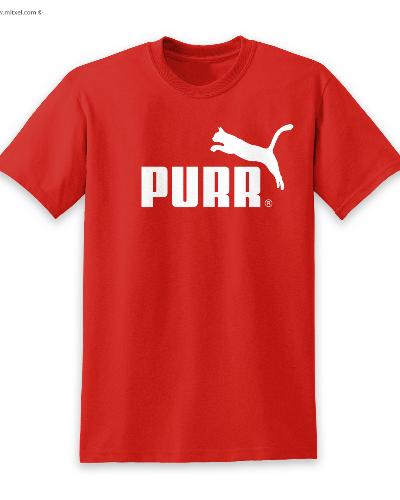 Purr Purr logo parody