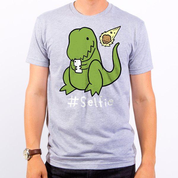 Selfie Dinosaur Men's T-Shirt