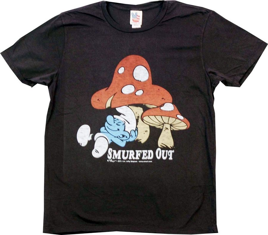 Smurf Smurfed Out T-Shirt by Junk Food