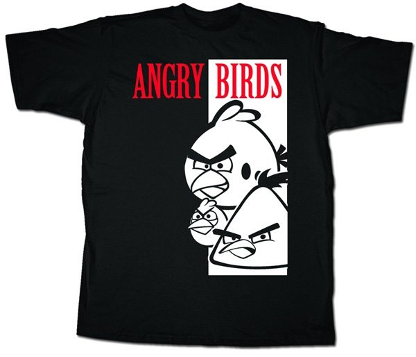 Angry Birds Scarface T-Shirt