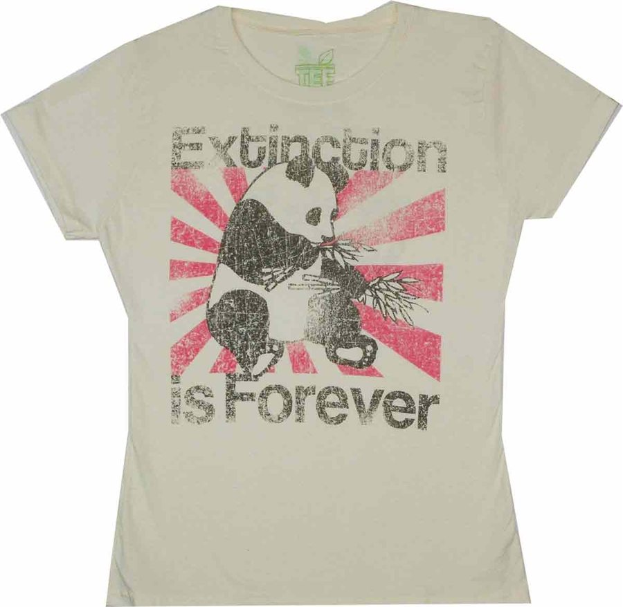 Extinction is Forever Tee Hugger Juniors T-Shirt – only in XL