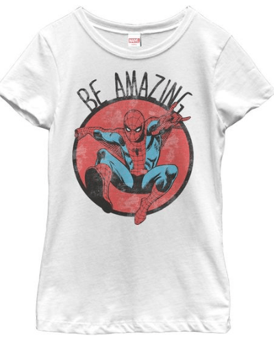 Marvel Girl's – Spider-Man Be Amazing T Shirt