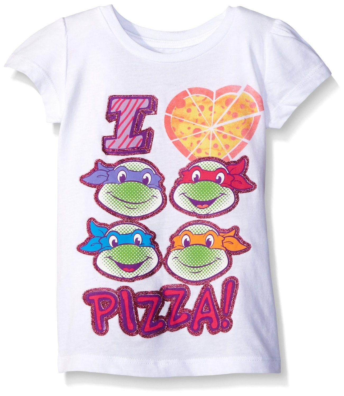 Nickelodeon Baby Girls' Tmnt I Love Pizza S/Puff