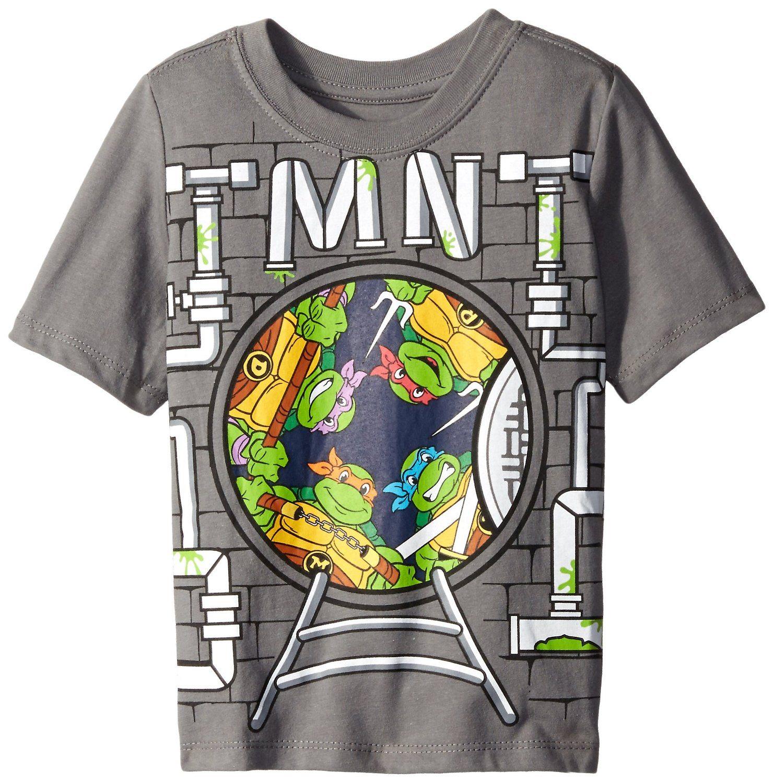 Teenage Mutant Ninja Turtles Boys' Sewer Group Short Sleeve Graphic Tee