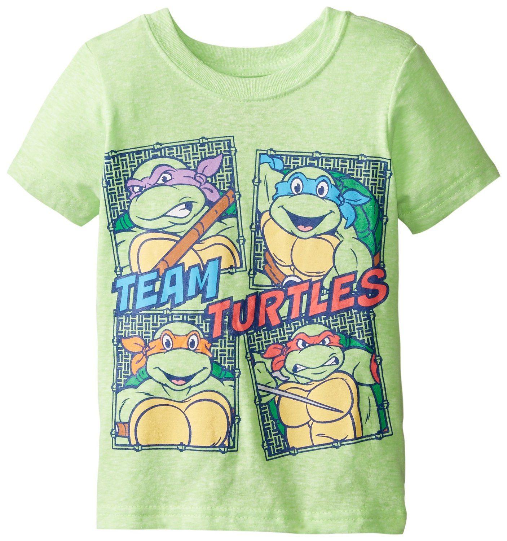 Teenage Mutant Ninja Turtles Boys' TMNT Faces Turtle Power
