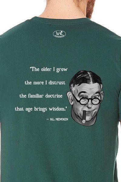 H.L. Mencken on Age & Wisdom