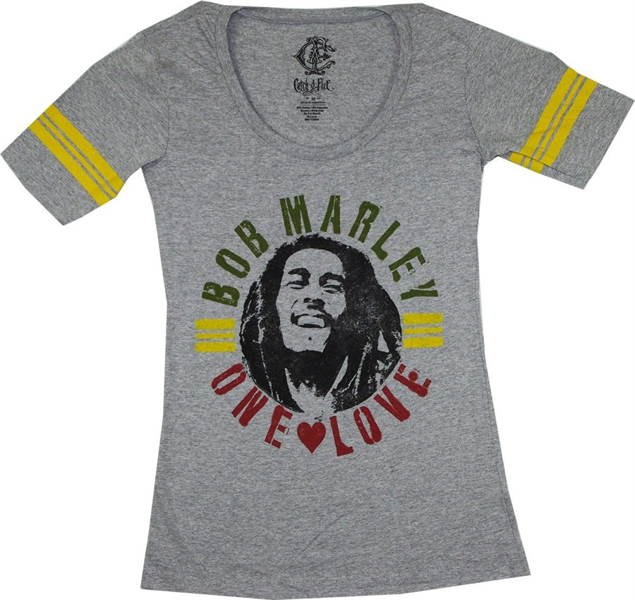Bob Marley One Love Baseball Juniors T-Shirt