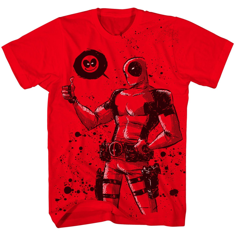 Deadpool Dead Thumb Mens Red