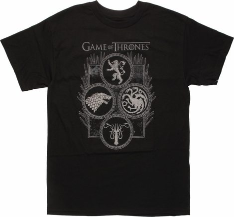 Game of Thrones Four Houses in Circles