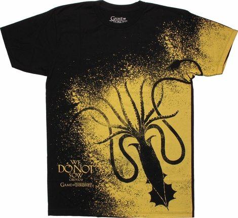 Game of Thrones Greyjoy Sigil Splatter T Shirt Sheer