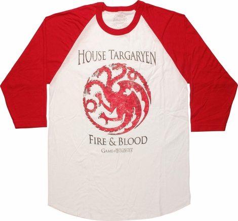 Game of Thrones House Targaryen Raglan