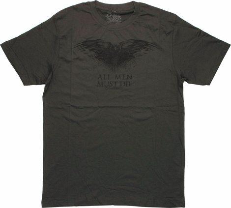 Game of Thrones Raven All Men Must Die T Shirt Sheer