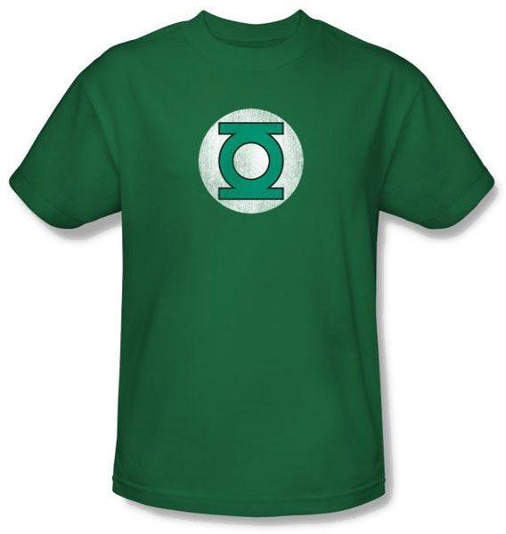Green Lantern Distressed Logo T-Shirts